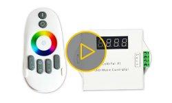 Відеоогляд світломузичного контролера для SMART-стрічок Colorful X1