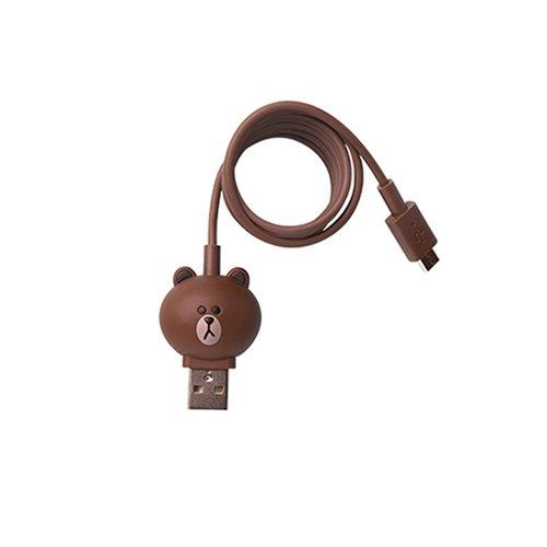 Micro-USB 5-контактный кабель для подключения смартфона (Line Friends – Brown)