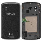 Battery Back Cover for LG E960 Nexus 4 Cell Phone, (black)