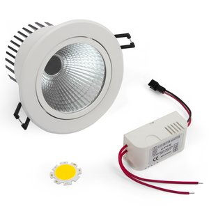 Juego para armar lámpara LED de techo COB 5 W (luz blanca fría)