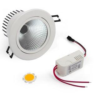 Juego para armar lámpara LED de techo COB 7 W (luz blanca tíbia)